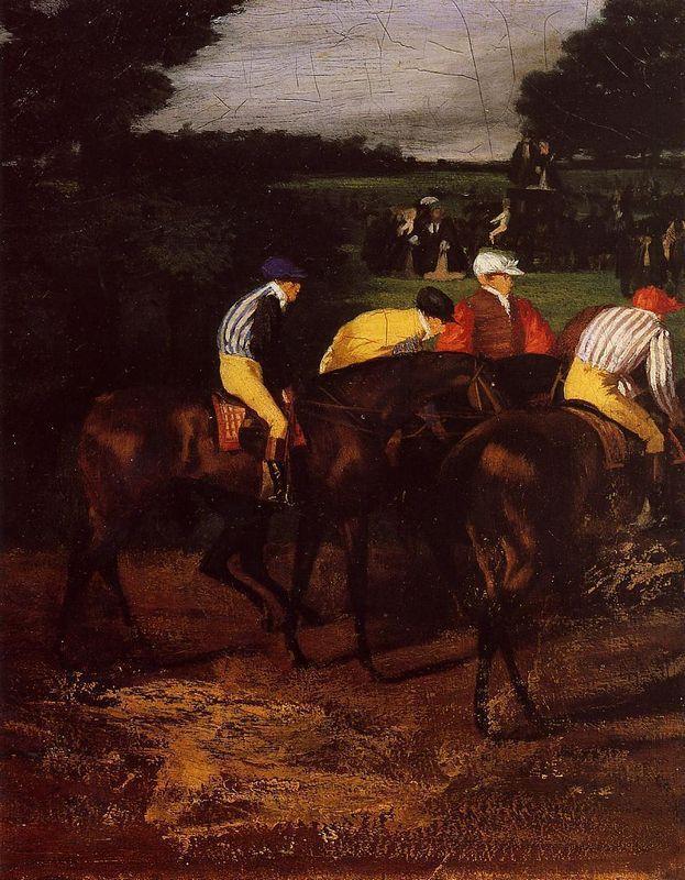 Jockeys at Epsom - Edgar Degas