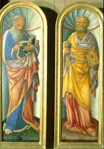John the Evangelist, the Apostle Peter - Jacopo Bellini