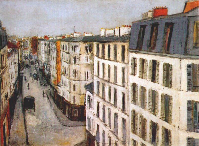 Jonquiere Street   - Maurice Utrillo