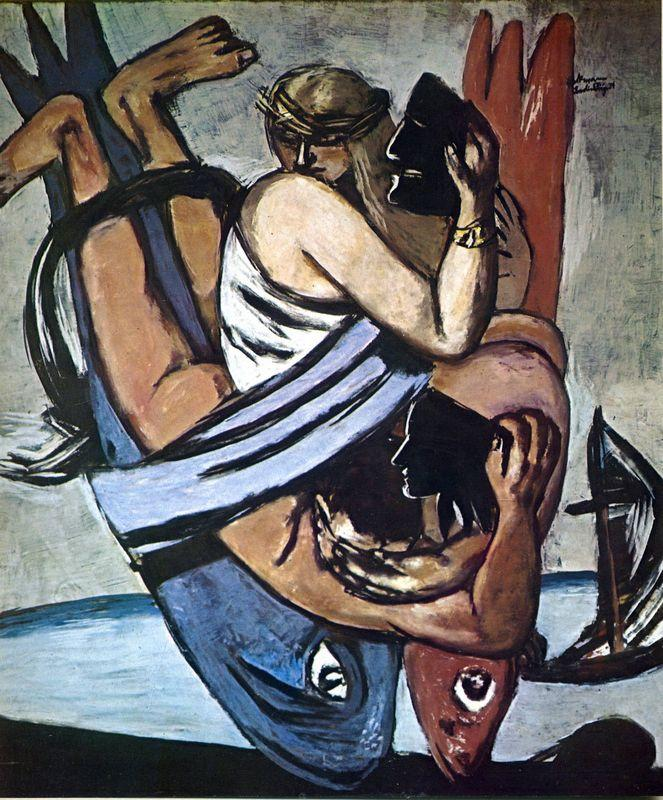 Journey on the fish - Max Beckmann
