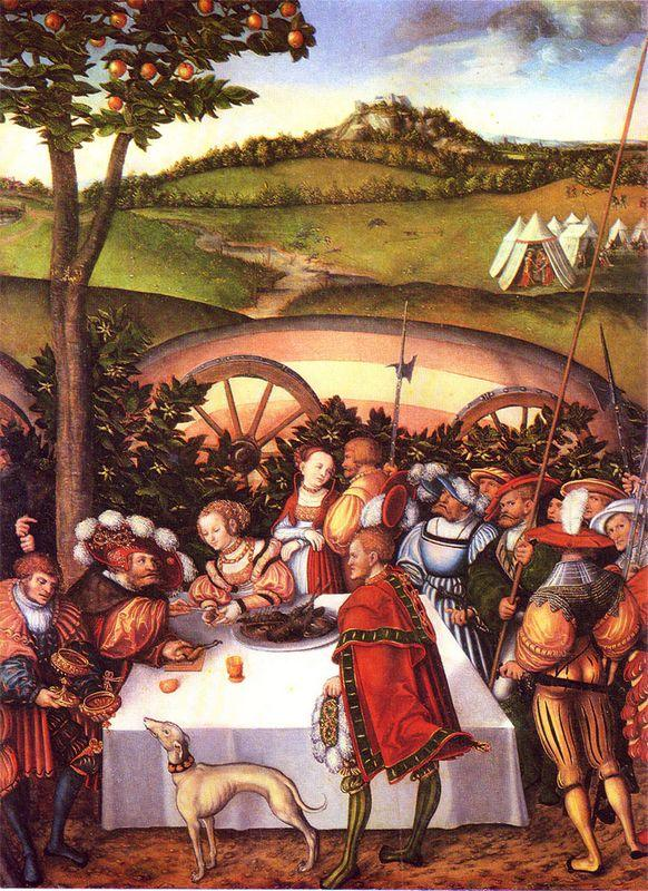 Judith at the Table of Holofernes - Lucas Cranach the Elder