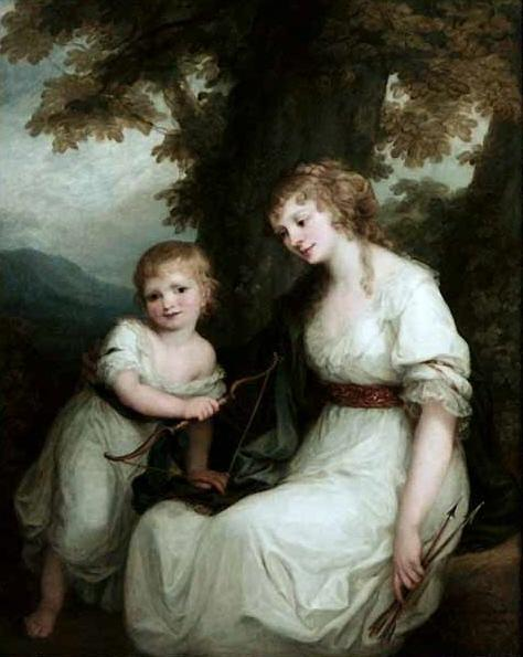 Juliane von Kriidener and her son Paul - Angelica Kauffman
