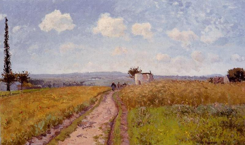 June Morning, View over the Hills over Pontoise - Camille Pissarro