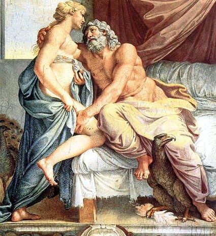 Jupiter and Juno - Agostino Carracci