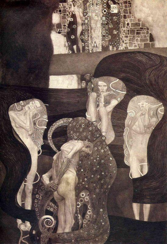 Jurisprudence (final state) - Gustav Klimt