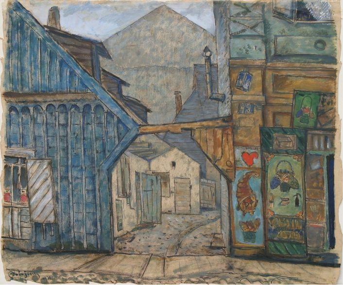 Kaunas. The Old Houses. - Mstislav Dobuzhinsky