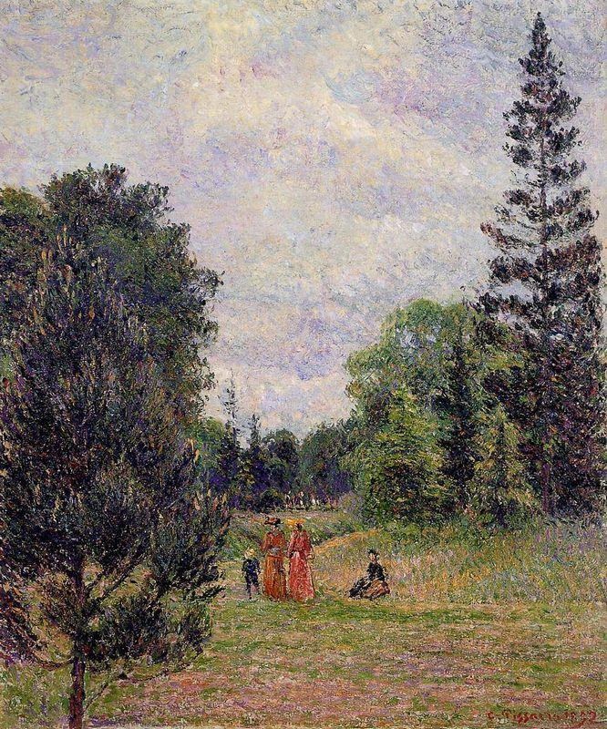 Kew Gardens, Crossroads near the Pond - Camille Pissarro