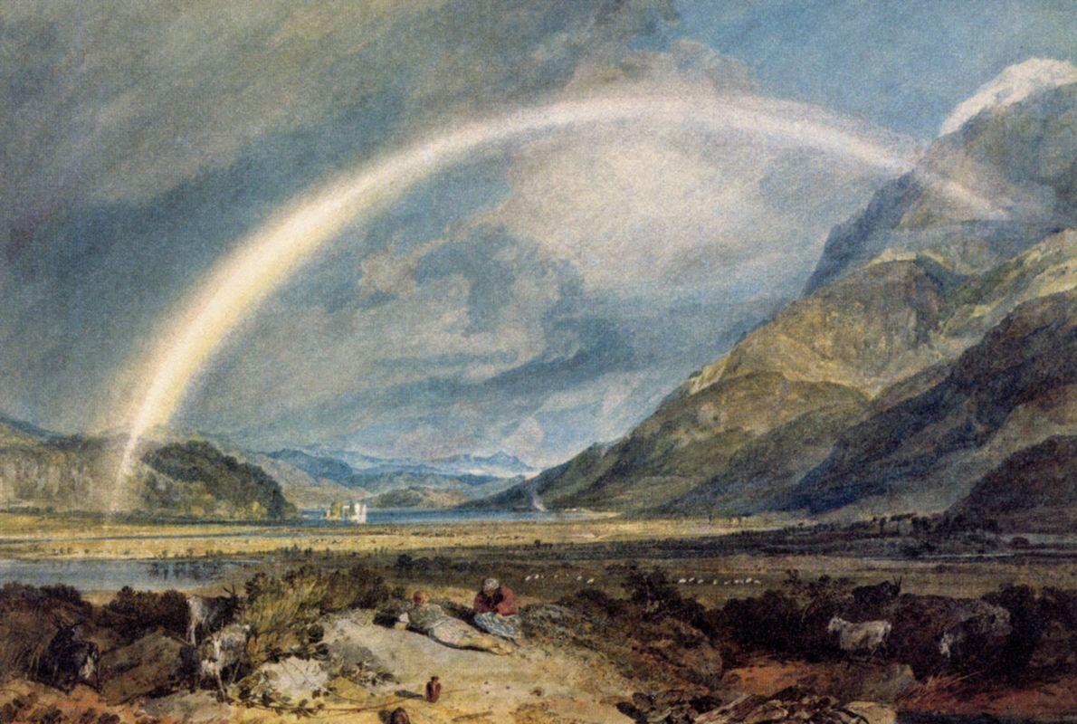 Kilchern Castle, with the Cruchan Ben Mountains, Scotland Noon - William Turner