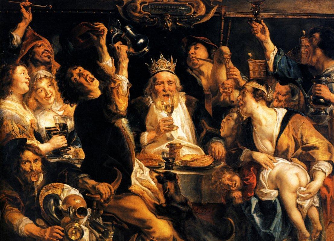 King Drinks - Jacob Jordaens