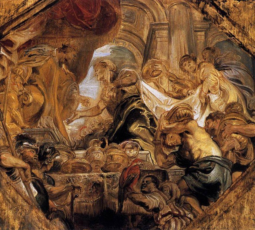 King Solomon and the Queen of Sheba - Konrad Witz