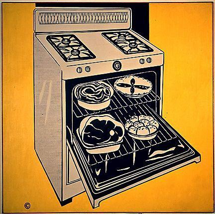 Kitchen range - Roy Lichtenstein