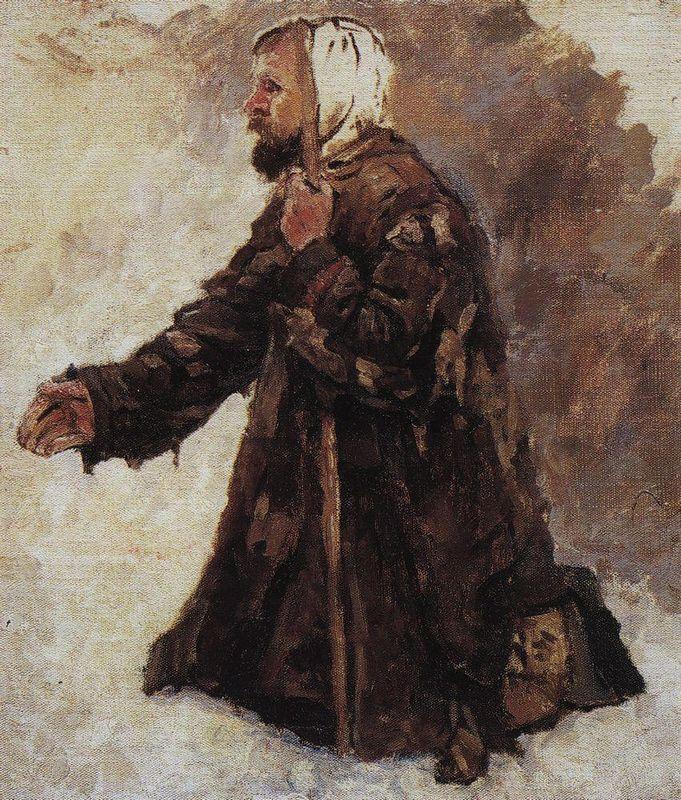 Kneeling beggar - Vasily Surikov