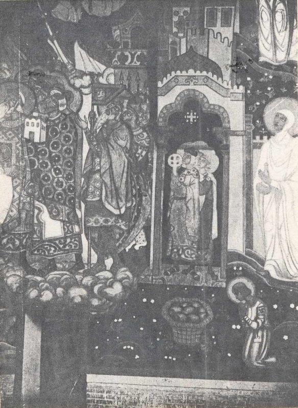 Kneeling warriors (Study of murals for the chapel in Pskov) - Nicholas Roerich