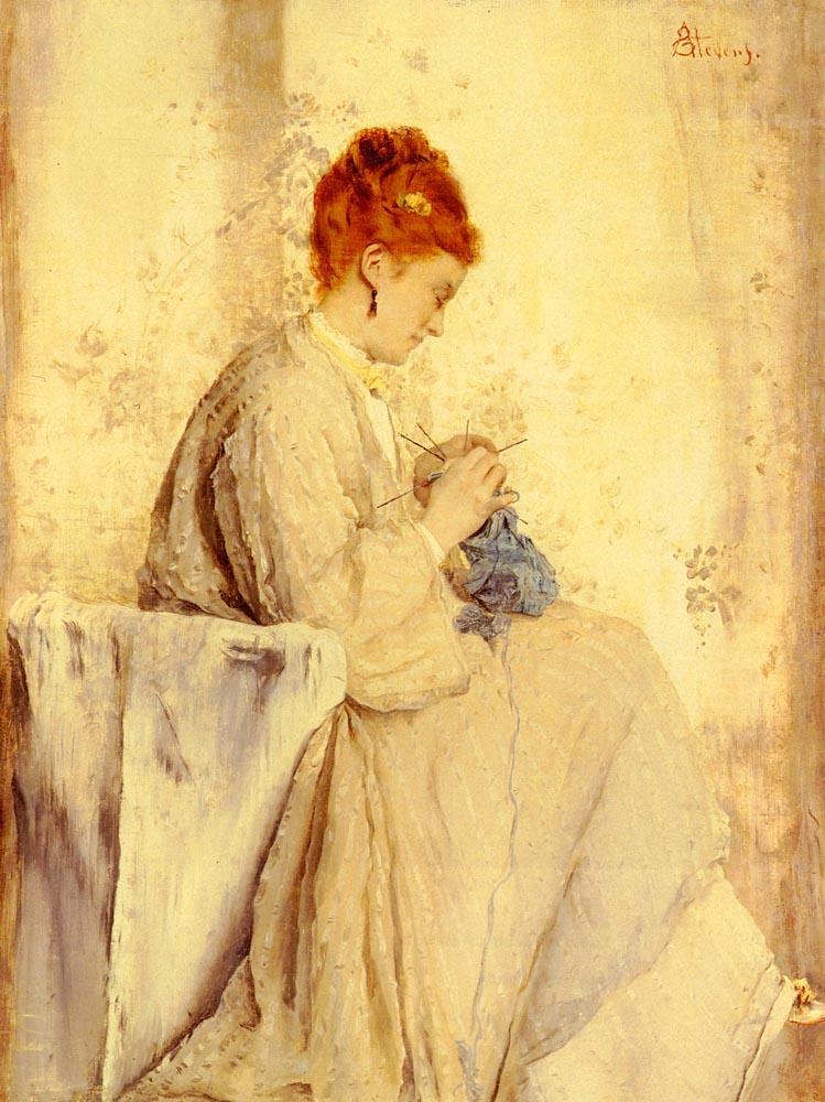 Knitter - Alfred Stevens