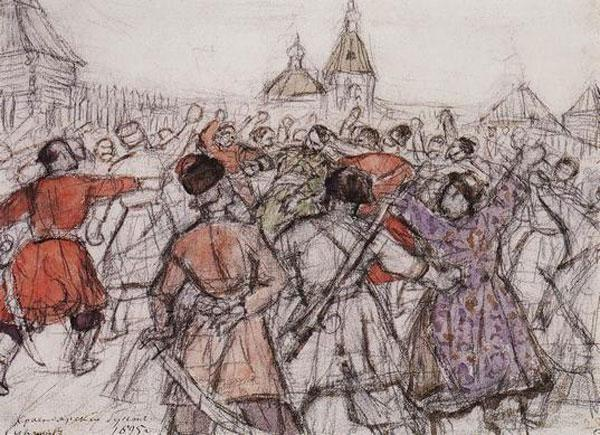 Krasnoyarsk rebellion - Vasily Surikov