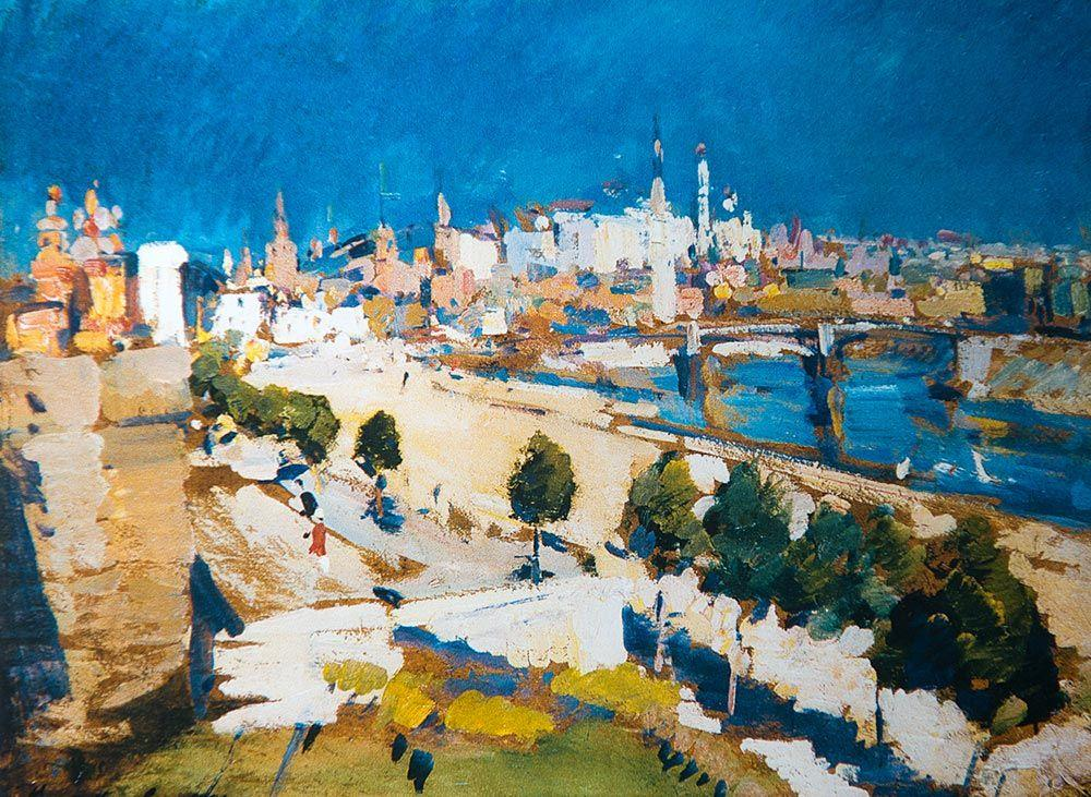 Kremlin view from Cathedral of Christ the Saviour - Konstantin Korovin