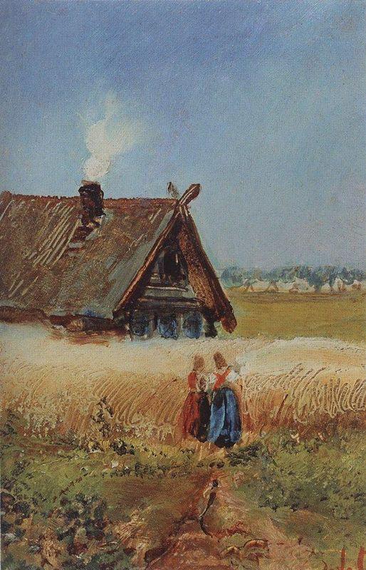 Kutuzovskaya hut at Fili - Aleksey Savrasov