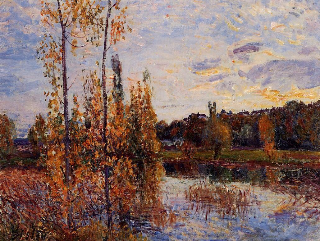 L Etang de Chevreuil - Alfred Sisley
