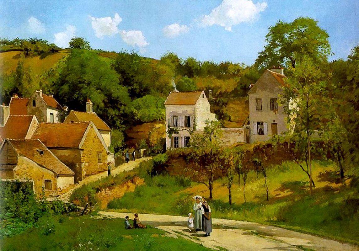 L'Hermitage at Pontoise - Camille Pissarro