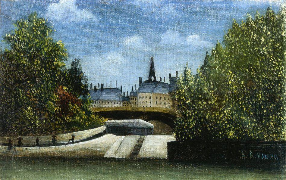 Ile de la Cite - Henri Rousseau