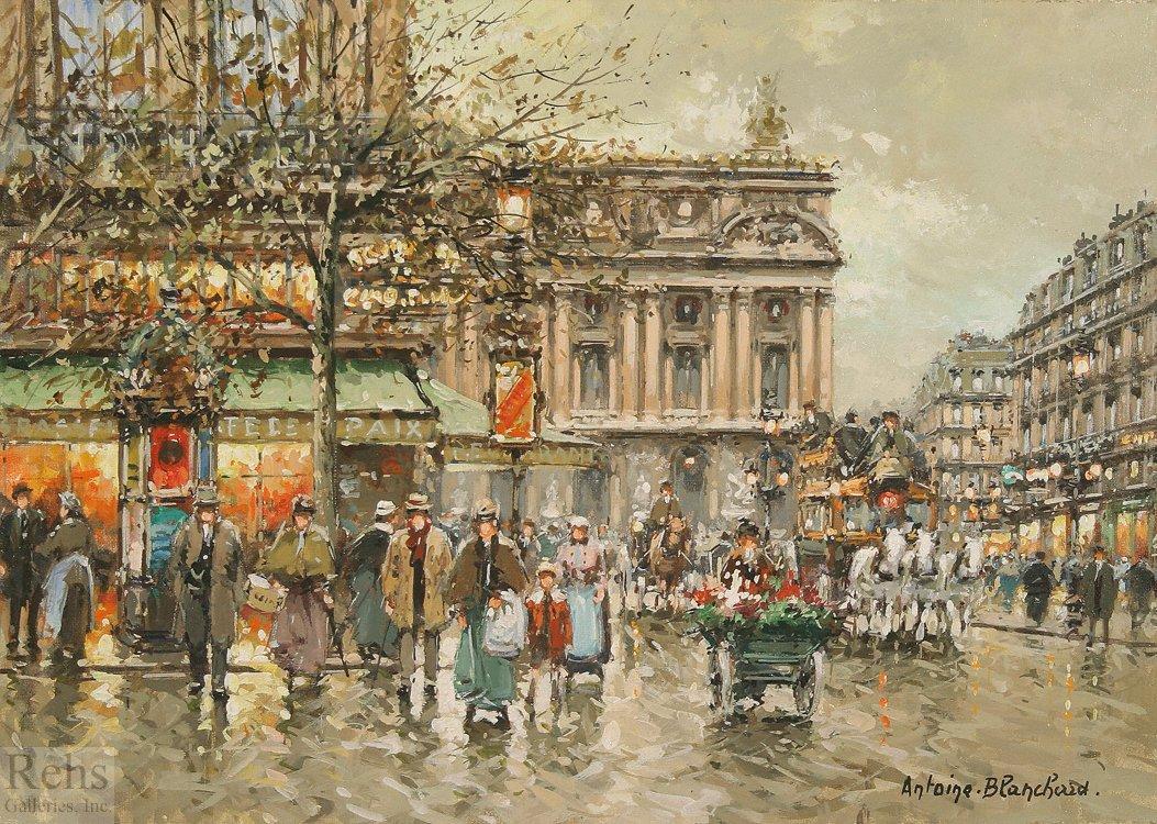 L'Opera, cafe de la Paix - Antoine Blanchard