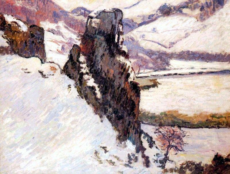 Creuse under the snow - Armand Guillaumin