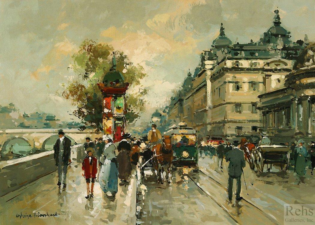 La Gare Dorleans et le Quai Dorsay - Antoine Blanchard