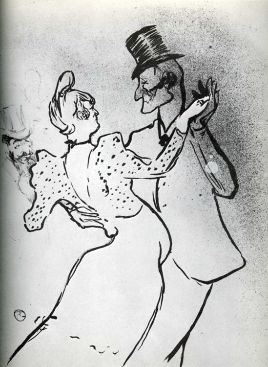 La Goulue and Valentin, Waltz - Henri de Toulouse-Lautrec