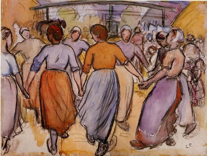 La Ronde - Camille Pissarro
