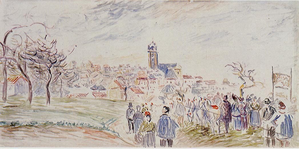 La Saint Martin a Pontoise - Camille Pissarro