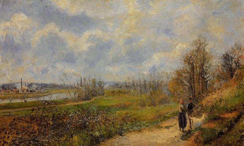 La Sente du Chou, near Pontoise - Camille Pissarro