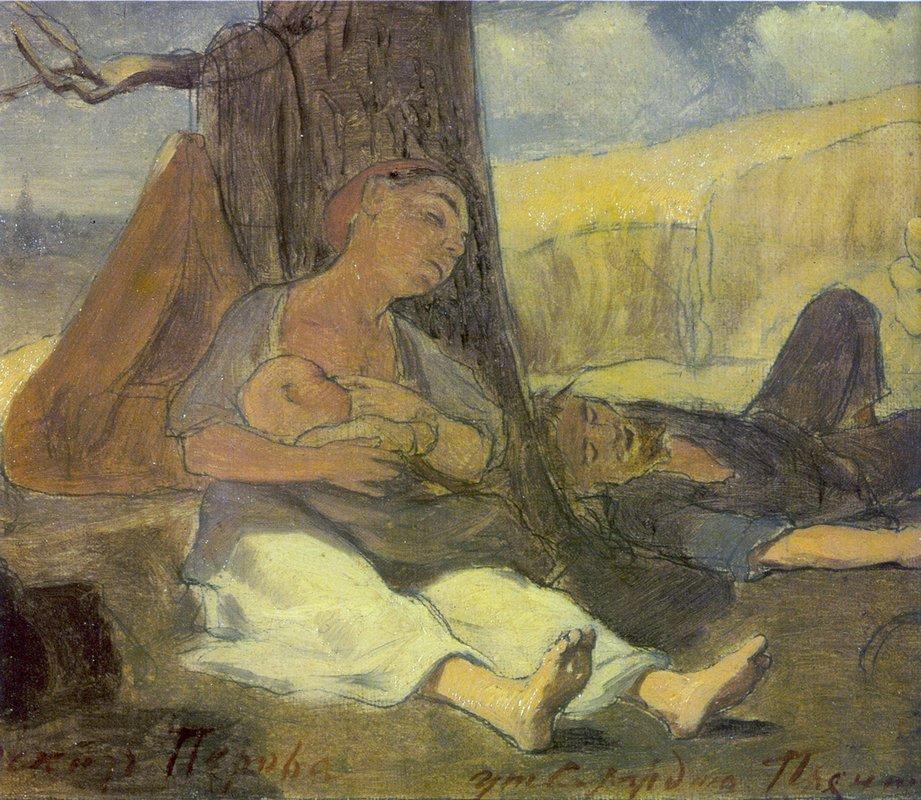 Labor family  - Vasily Perov