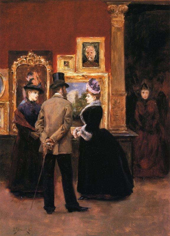 Ladies with a Gentleman in a Top Hat - Julius LeBlanc Stewart