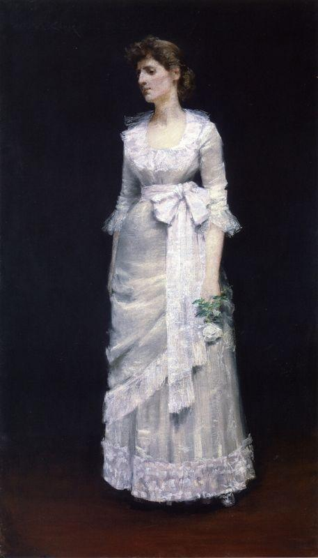 Lady in White Gown - William Merritt Chase