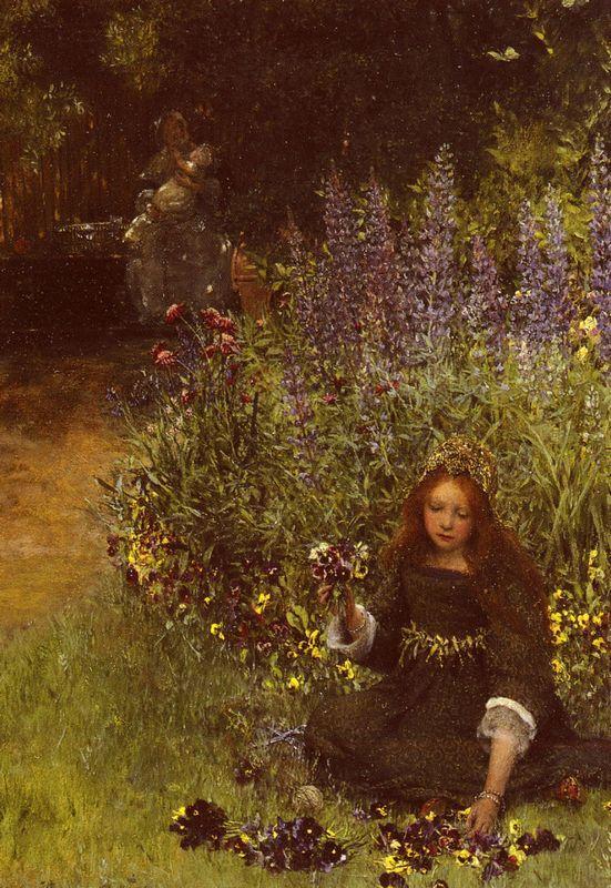 Lady Laura Teresa Gathering - Sir Lawrence Alma-Tadema
