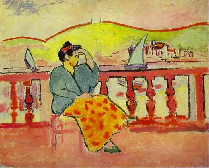 Lady on a Terrace  - Henri Matisse