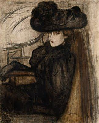 Lady with Black Veil - Jozsef Rippl-Ronai