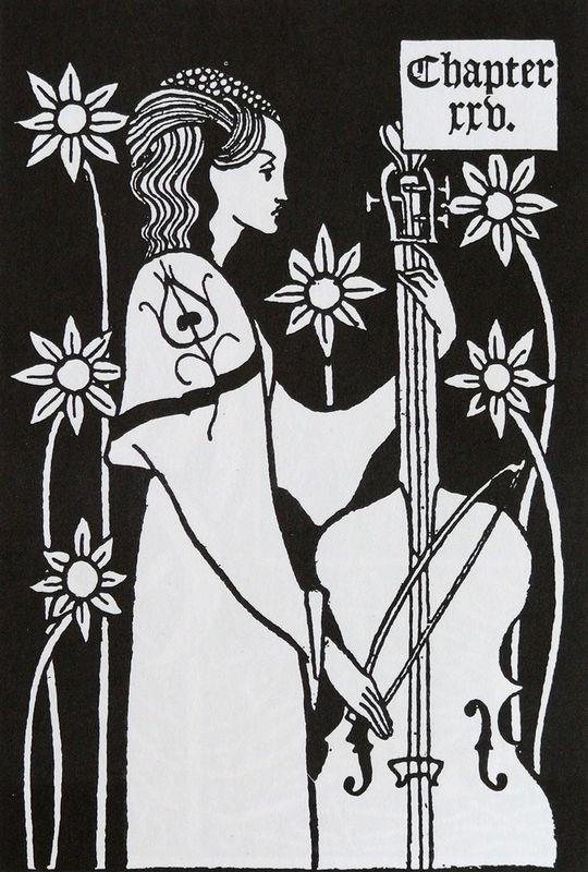 Lady with Cello - Aubrey Beardsley
