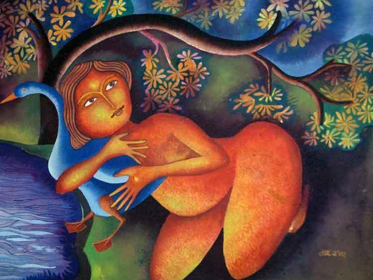 Lady With Duck I - Jahar Dasgupta