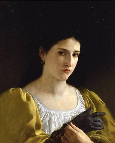 Lady with Glove - William-Adolphe Bouguereau