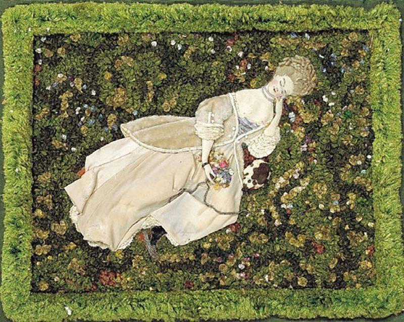 Lady with the Dog, Relaxing on the Lawn - Konstantin Somov