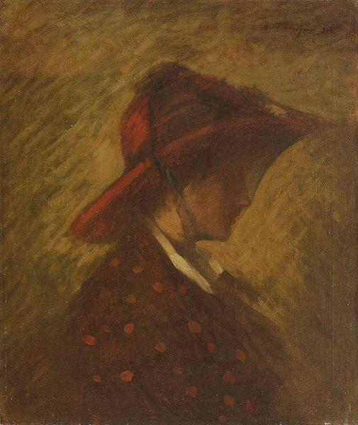 Lady with veil - Nicolae Tonitza