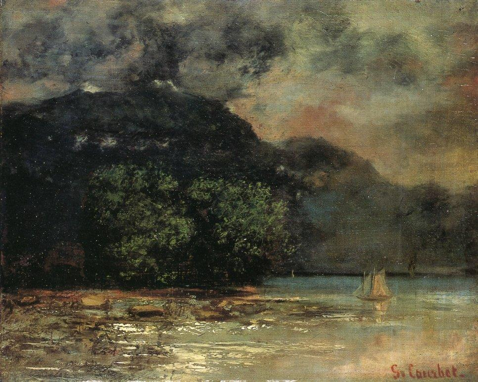Lake Geneve before the Storm - Gustave Courbet