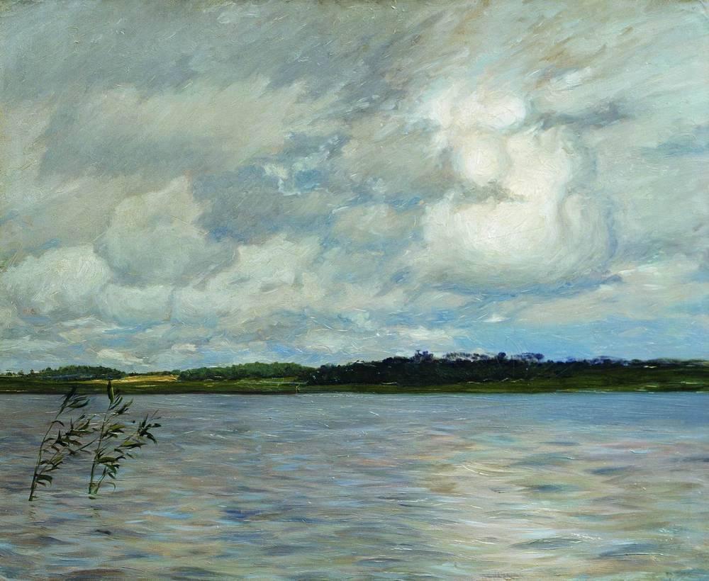 Lake. Gray day. - Isaac Levitan