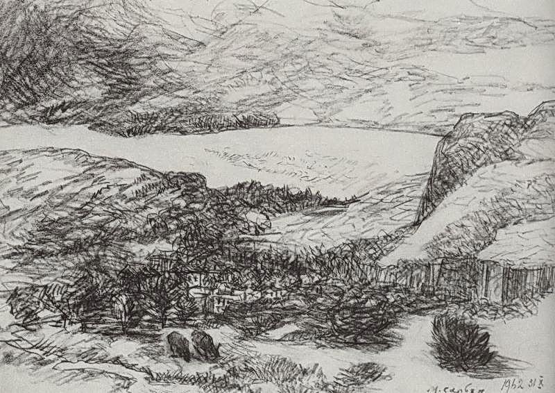 Lake in the mountains - Martiros Saryan