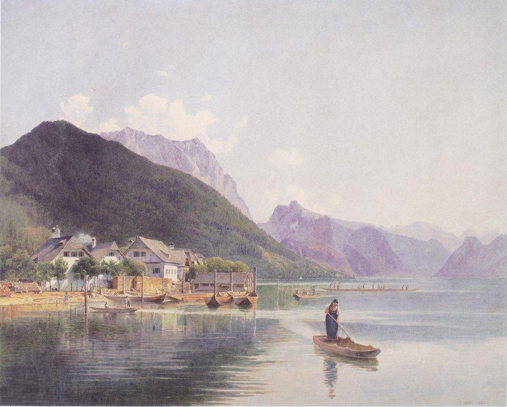 Lake Traun - Rudolf von Alt