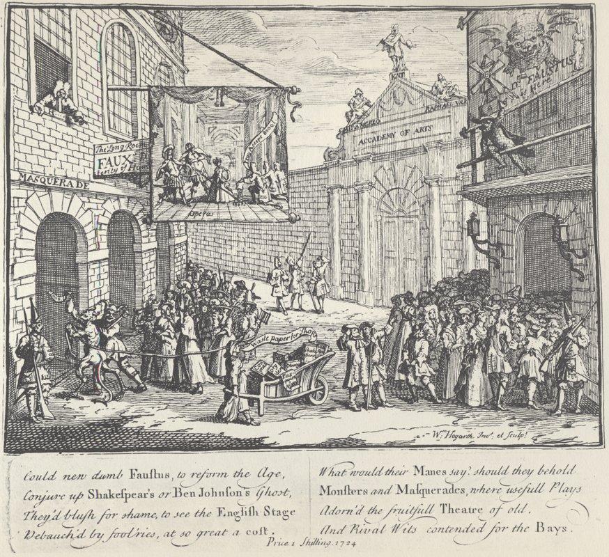 Lame theater - William Hogarth