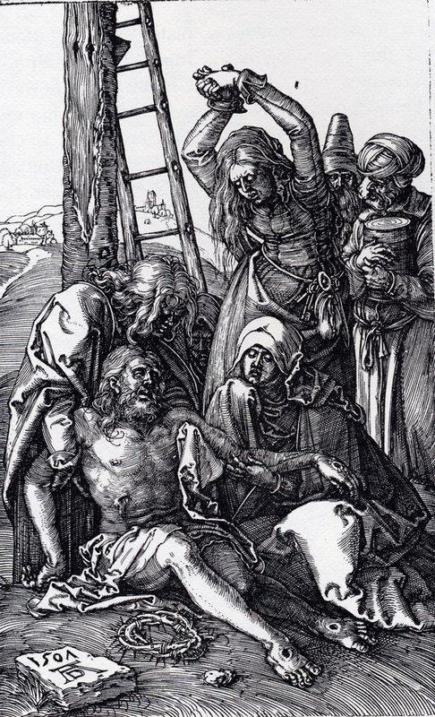 Lamentation Over Christ - Albrecht Durer