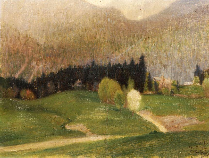 Landscape with Fir Trees - Konstantinos Parthenis