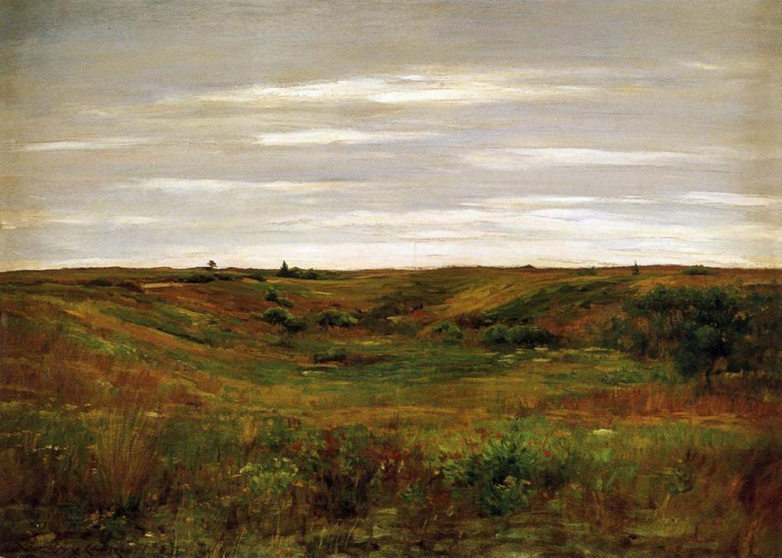 Landscape - A Shinnecock Vale - William Merritt Chase